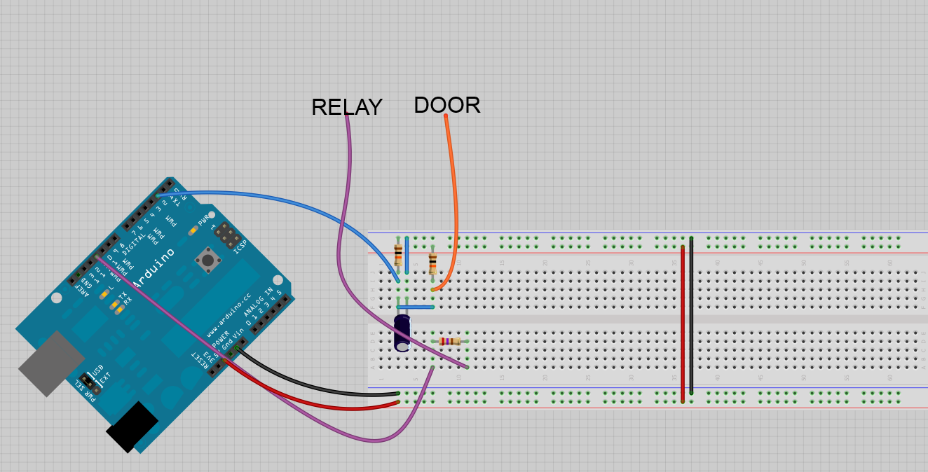 Schematic for door sensor.