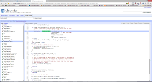 Yup, Chromium is using FIND_FIRST_EX_LARGE_FETCH.